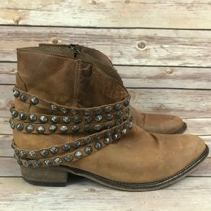 Steven by Steve Madden Brown Leather BOHO Boots